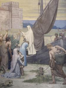 Sainte Geneviève ravitaille Paris assiégé par les Huns d'Attila by Pierre Puvis de Chavannes