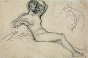 Seated Female Nude, 1881 by Pierre Puvis de Chavannes