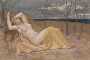 Tamaris, c.1886-87 by Pierre Puvis de Chavannes