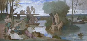 The River by Pierre Puvis de Chavannes