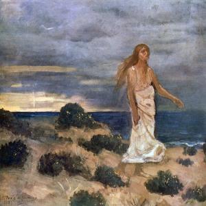 Woman on the Beach, 1887 by Pierre Puvis de Chavannes
