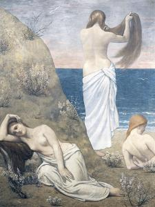 Young Girls at the Seaside, 1879 by Pierre Puvis de Chavannes
