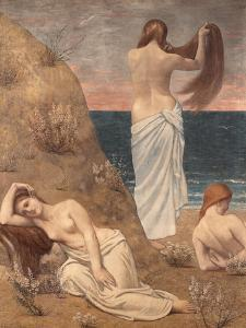 Young Girls at the Seaside by Pierre Puvis de Chavannes