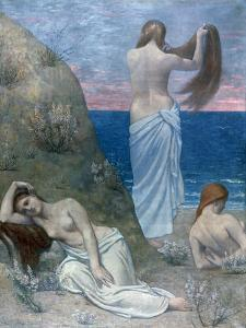 Young Girls by the Sea, before 1894 by Pierre Puvis de Chavannes