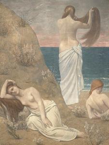 Young Women at the Sea Shore by Pierre Puvis de Chavannes