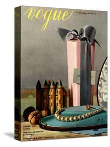 Vogue Cover - December 1937 by Pierre Roy