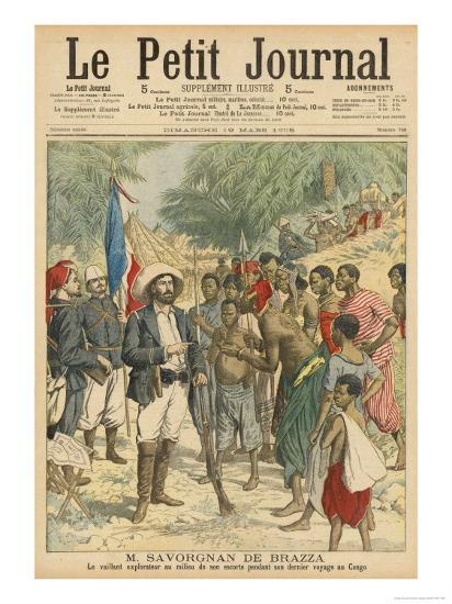 Pierre Savorgnan de Brazza French Explorer in the Congo 1875-1885--Giclee Print