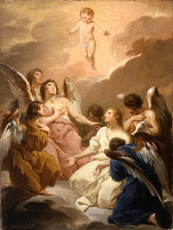 Seven Angels Adoring the Christ Child, c.1730-40