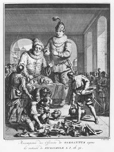 Gargantua Rewarding Officers after the Victory of Picrochole from 'The Life of Gargantua and Pantag by Pierre Tanje