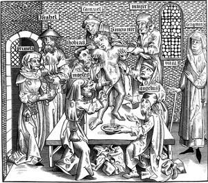 The Martyrdom of Simon of Trent, 1493 by Pierre Wolgmuth