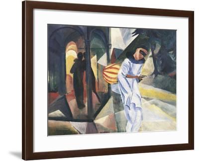 Pierrot, 1913-Auguste Macke-Framed Giclee Print