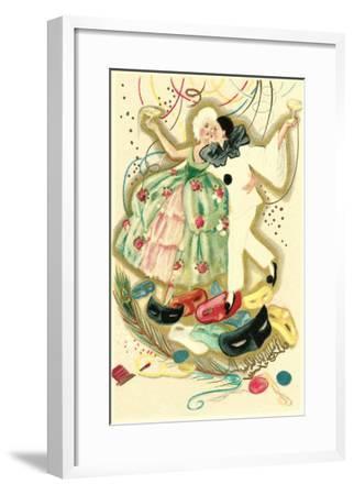 Pierrot and Marie Antoinette--Framed Art Print