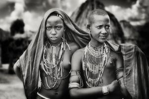 Karo Girls Sharing a Scarf by Piet Flour