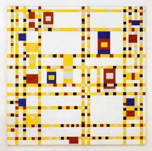 Broadway Boogie Woogie. 1942-43 by Piet Mondrian