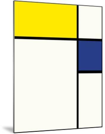 Composition avec bleu et jaune, 1932 by Piet Mondrian