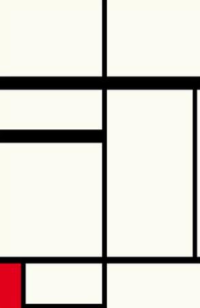Composition avec rouge , noir et blanc, 1931 by Piet Mondrian