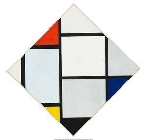 Composition II in Red, Blue, and Yellow, 1930 by Piet Mondrian