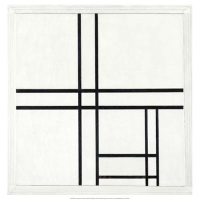 Composition in Black and White, with Double lines, 1934