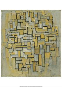 Composition in Brown and Gray (Gemälde no. II : Composition no. IX : Compositie 5), 1913 by Piet Mondrian