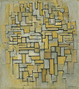 Composition in Brown and Gray (Gemälde no. II : Composition no. IX : Compositie 5), 1913 by Piet Mondrian