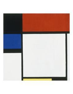 Composition No. III / Fox Trot B with Black, Red, Blue and Yellow, 1929 by Piet Mondrian