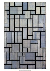 Composition with Grid 2, 1915 by Piet Mondrian