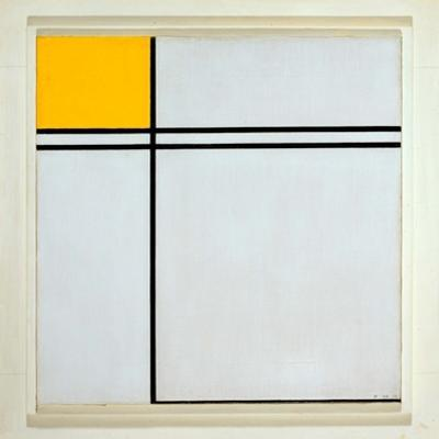 Composition with Yellow and Double Line, 1932