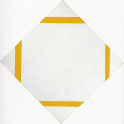 Lozange Composition with Four Yellow Lines, 1933