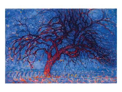 Piet Mondrian Red Tree 1908--Premium Giclee Print