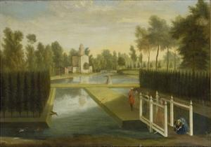 View Towards the Rear of the Bagnio from South of the Upper River, Chiswick House by Pieter Andreas Rysbrack