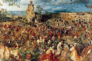 Procession to Cavalry - Complete by Pieter Breughel the Elder