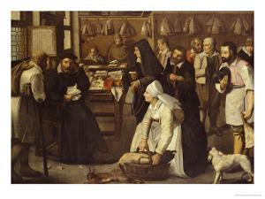 A Tax Office with Peasants Queuing to Make Payments in Kind by Pieter Bruegel the Elder