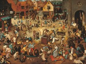 Battle Between Carnival, or Mardi Gras, and Lent by Pieter Bruegel the Elder