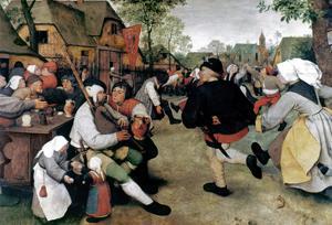 Bruegel: Peasant Dance by Pieter Bruegel the Elder