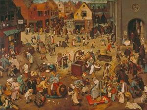 Der Kampf Zwischen Fasching Und Fasten, 1559 by Pieter Bruegel the Elder