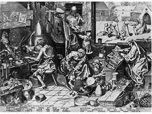 Elixir of Life: 'The Alchemist, 1558 by Pieter Bruegel the Elder