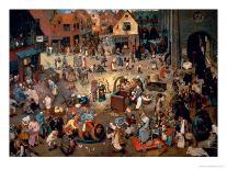 Bruegel: Peasant Dance-Pieter Bruegel the Elder-Giclee Print