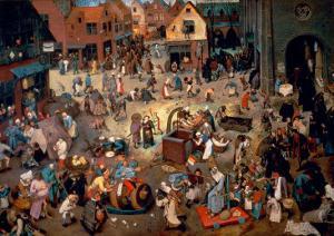 Fight Between Carnival and Lent, 1559 by Pieter Bruegel the Elder