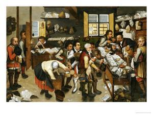 La Paiement Du Dime by Pieter Bruegel the Elder