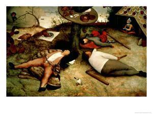 Land of Cockaigne, 1567 by Pieter Bruegel the Elder