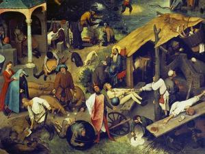Netherlandish Proverbs. (Detail Bottom Right), 1559 by Pieter Bruegel the Elder