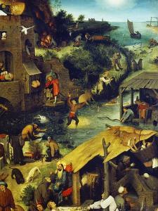 Netherlandish Proverbs (Detail Top Right), 1559 by Pieter Bruegel the Elder
