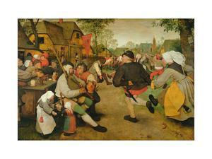 Peasant Dance, (Bauerntanz) 1568 by Pieter Bruegel the Elder
