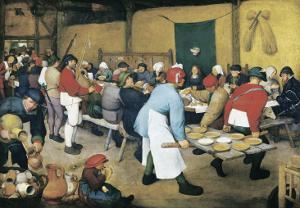 Peasant Wedding (Bauernhochzeit) by Pieter Bruegel the Elder