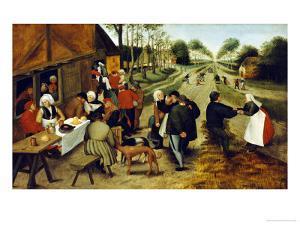 Peasants at a Roadside Inn by Pieter Bruegel the Elder