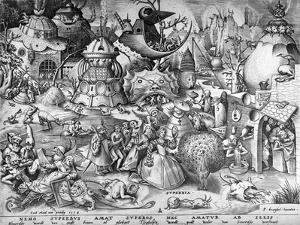 Pride, from the Seven Deadly Sins, Engraved by Pieter Van Der Heyden, 1558 by Pieter Bruegel the Elder