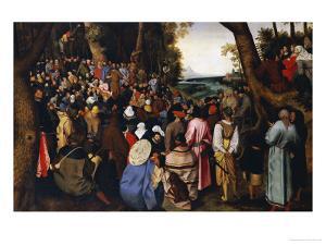 Saint John the Baptist Preaching the Baptism of Christ Beyond by Pieter Bruegel the Elder