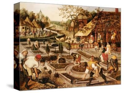 Spring: Gardeners, Sheep Shearers and Peasants Merrymaking