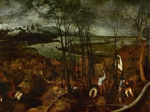 The Dark Day, from the Series The Seasons, 1565 by Pieter Bruegel the Elder