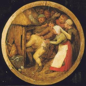 The Drunkard Pushed into the Pigsty by Pieter Bruegel the Elder